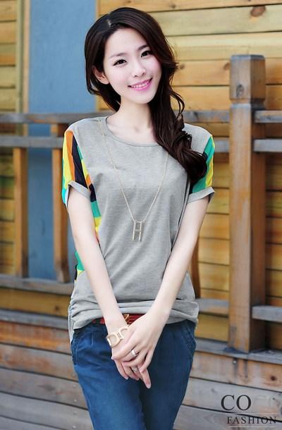 Gaya pakaian casual wanita kaos chiffon fashion dan style Fashion style untuk orang kurus