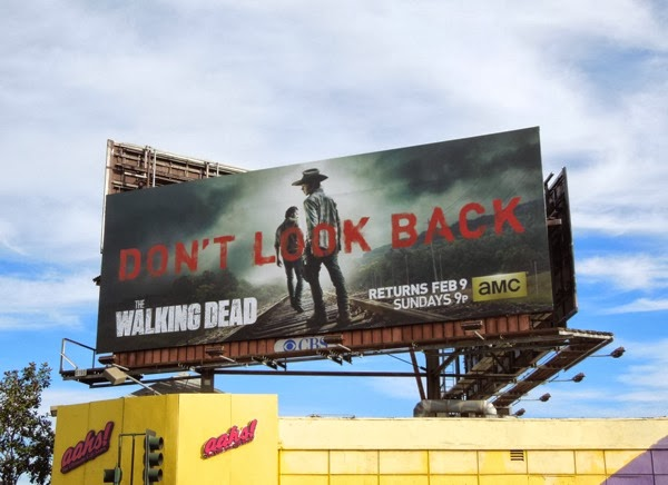 Walking Dead midseason 4 Don't Look Back billboard
