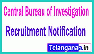 Central Bureau of Investigation CBI Recruitment Notification