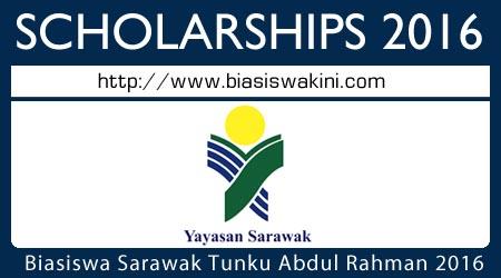 Yayasan Biasiswa Sarawak Tunku Abdul Rahman 2016
