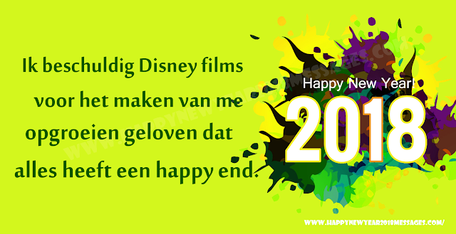 Happy New Year 2018 Dutch Messages