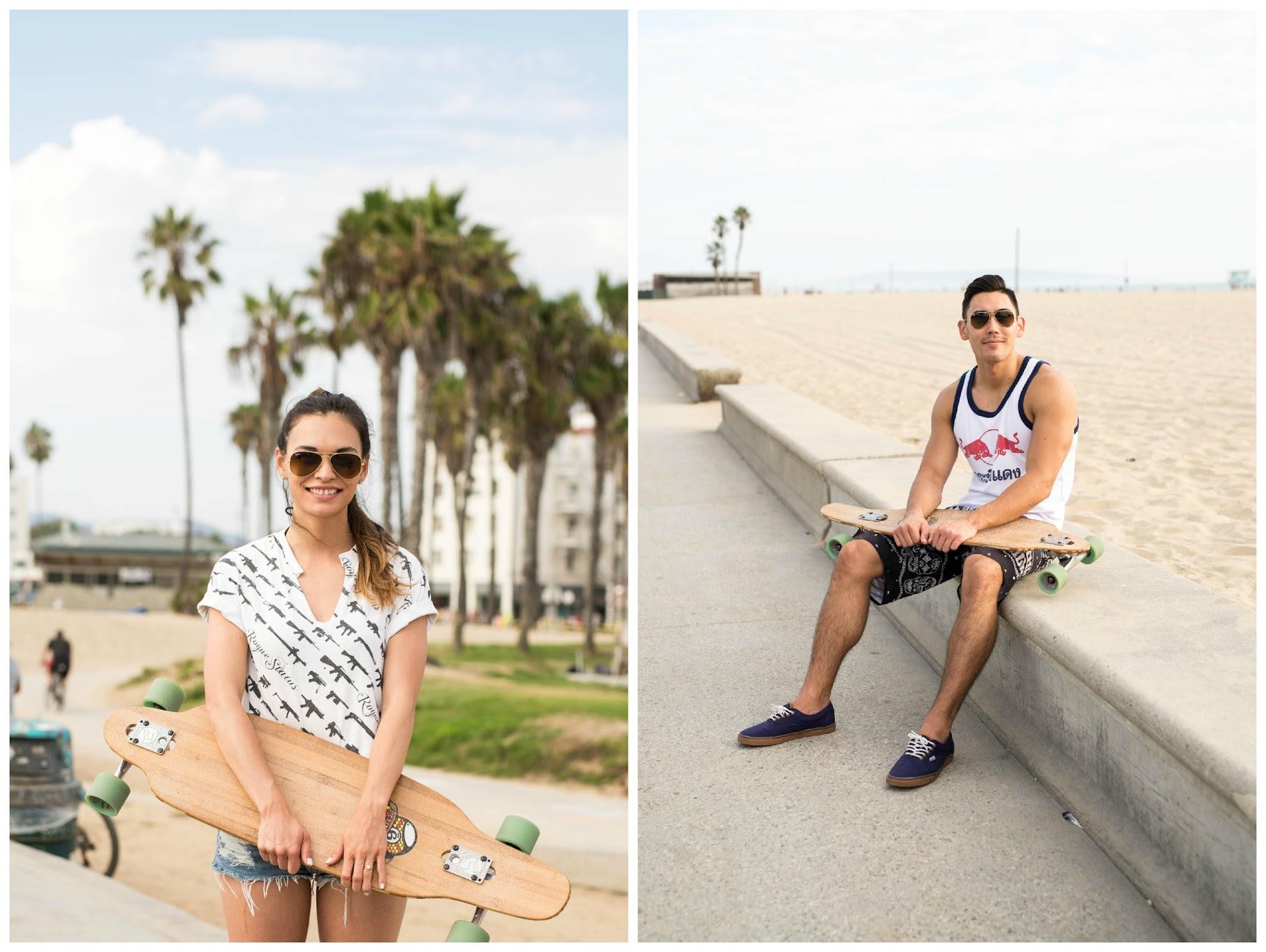 venice beach, skateboarding outfit, long boarding, sector 9 long board, skate park, asian, blogger, norcal