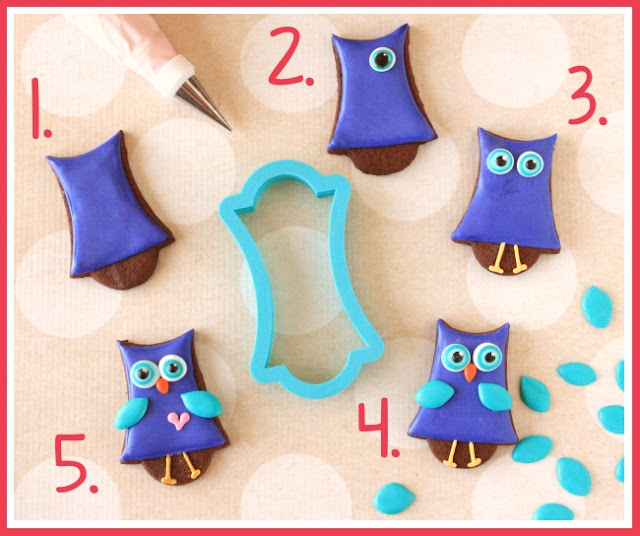 How to Make Decorate Owl Cookies