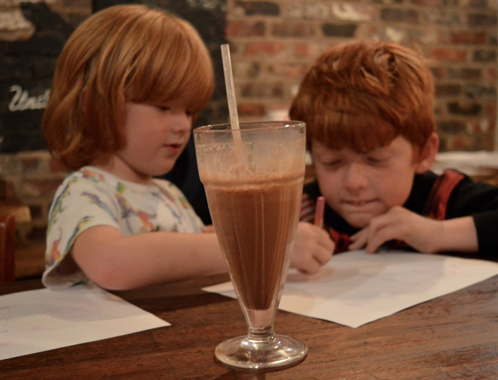 The Fat Hippo Underground with Kids | Simply the Best Burgers in Newcastle - chocolate milkshake
