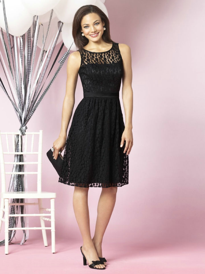 Little Black Wedding Guest Dresses Gown