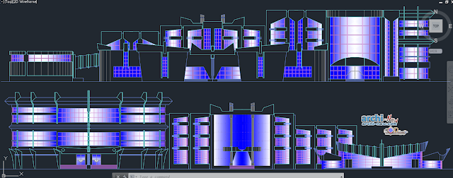 Educational cultural center in AutoCAD