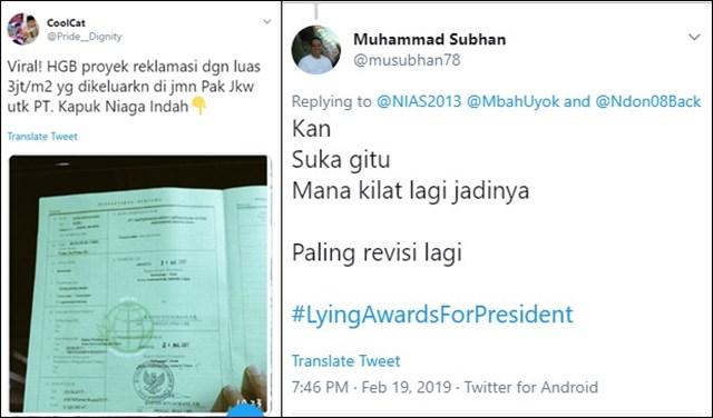 Pemberian Izin Lahan 3,1 Juta m2 untuk Reklamasi, Bertentangan dengan Klaim Jokowi di Debat