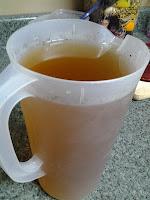Storing homemade tea.