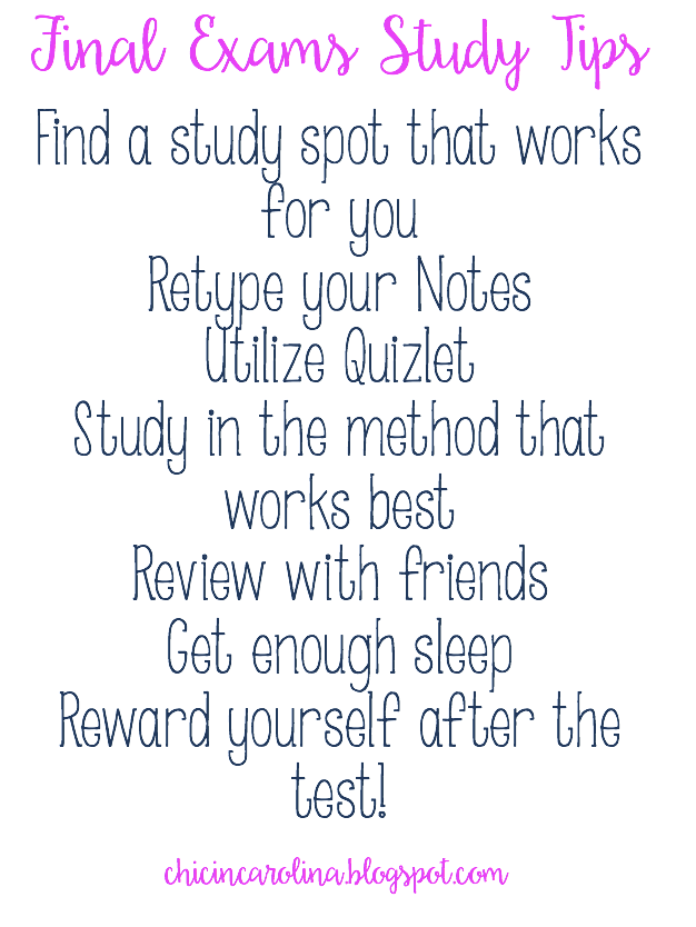 tips on how to study for a final exam