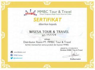 Sertifikat Distributor MMBC Wisesa Tour & Travel