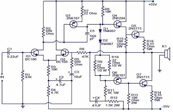 100 watts vmosfet power amplifier
