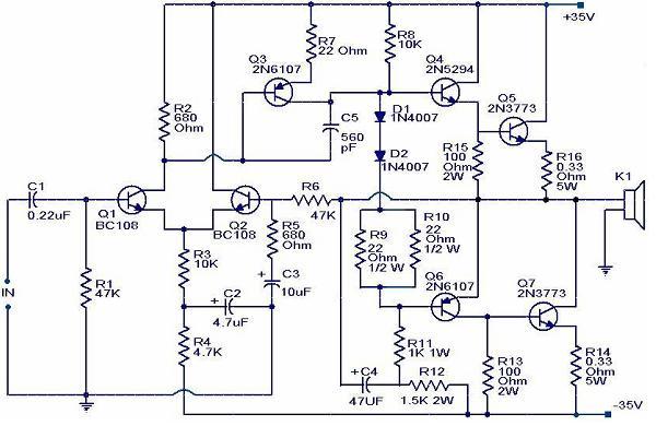 100 Watt Power Amplifier - Electronic Knowledge Share