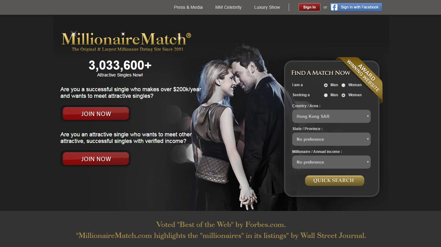 seeking millionaire dating site