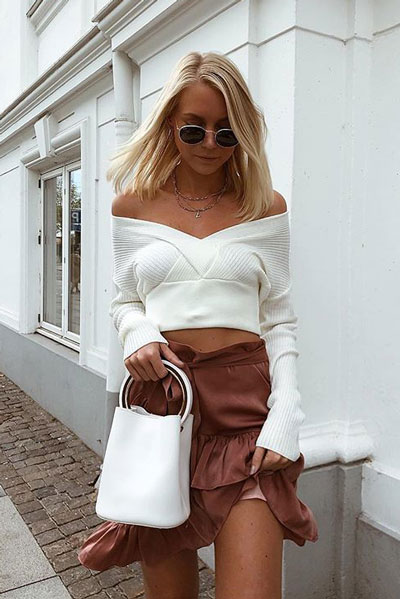 Front Cropped Sweater