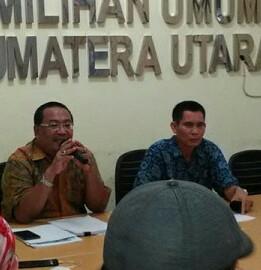 KPU Sumut menggelar Konfrensi pers soal kasus JR Saragih