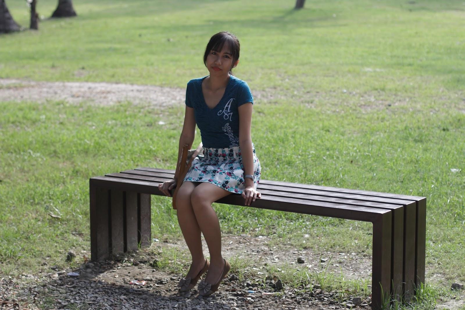 strolling around the park