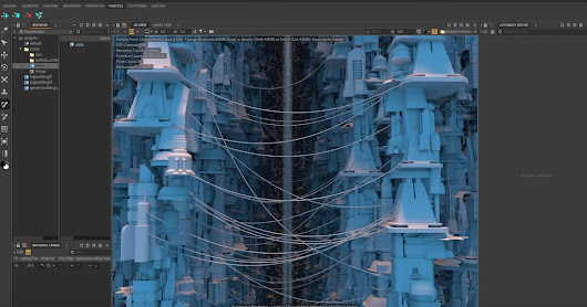 Generate Houdini Wires With Clarisse Point Clouds