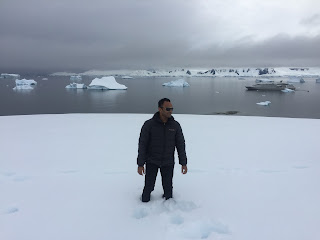 Mr.Vasim Shaikh exploring Antarctica-