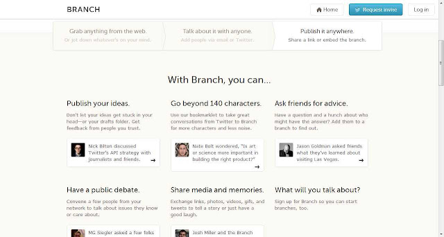 Groups: Organize free conversation social parties on your site: Branch app