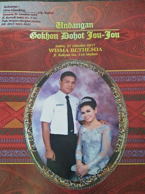 Undangan Pernikahan Eva Yanti boru Lumban Gaol ST dengan kekasihnya Dohar Simanullang