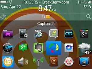 برنامج capture it لتصوير شاشة البلاك بيري  blackberry screenshot