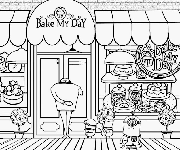 Grus Fun Art Activities Plex Clipart Family Minions Party Minion Cake  Shop Coloring Pages To Draw