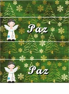Santa Claus and Angel for Christmas: Free Printable Mini Kit.