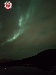 Aurora boreal en las Islas Lofoten, Noruega