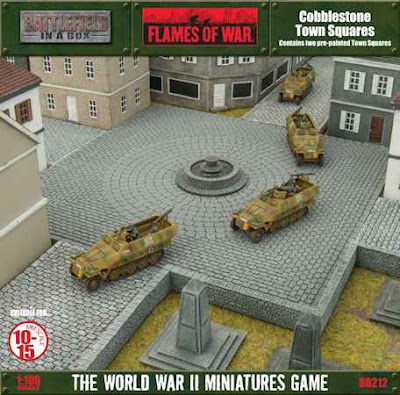 Battlefront Miniatures: New Pre-Painted Flames of War Cobblestone Town Square