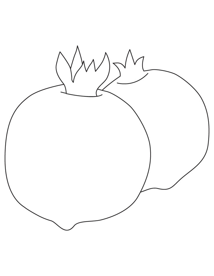 pomegranate images coloring pages for kids | Free Pomegranates Coloring Pages | Fantasy Coloring Pages