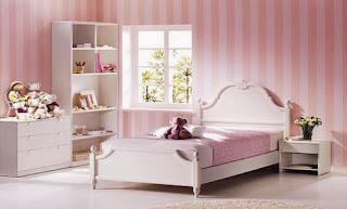 Dormitorio para chica en rosa