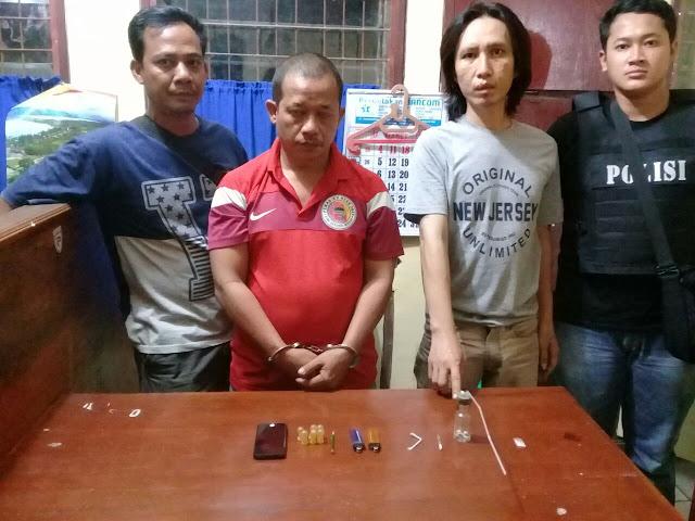 Tersangka narkoba yang diringkus personel Polres Siantar.