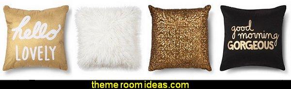 Decorative Pillows fun throw pillows gold pillows black pillows bronze pillows fauz fur throw pillows