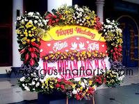 Jual Bunga Papan Untuk Pernikahan - Agustina Florist Surabaya WA.08113123700