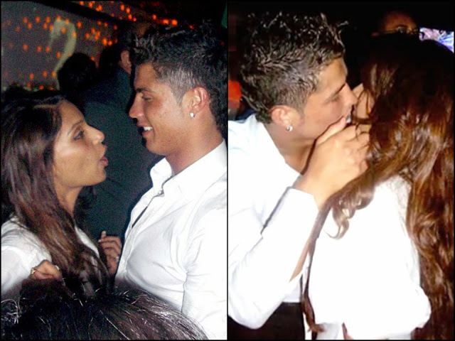 Bipasha Basu  and Critiano Ronaldo Spotted Kissing in public