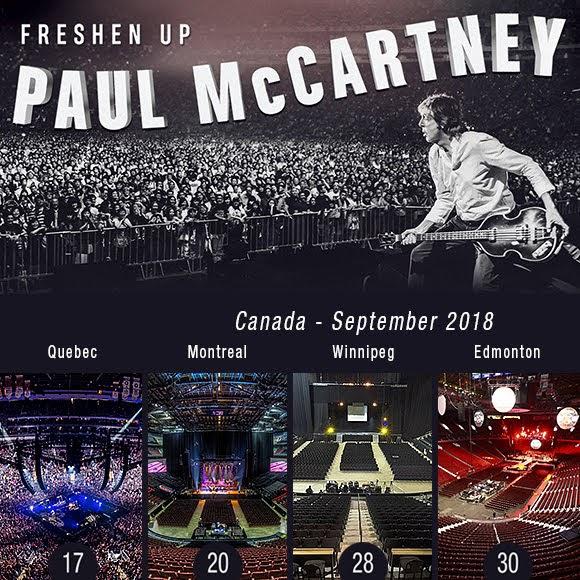 La nouvelle tournée «Freshen Up» de Paul McCartney au Canada