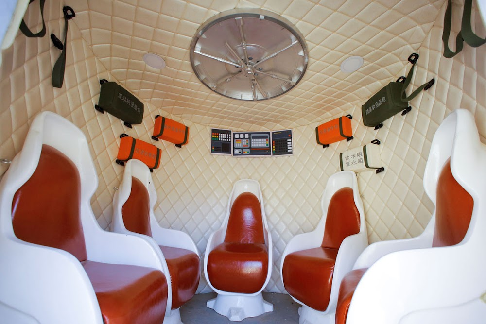 China's C-Space Mars simulation base in Gobi desert (mockup lander interior)