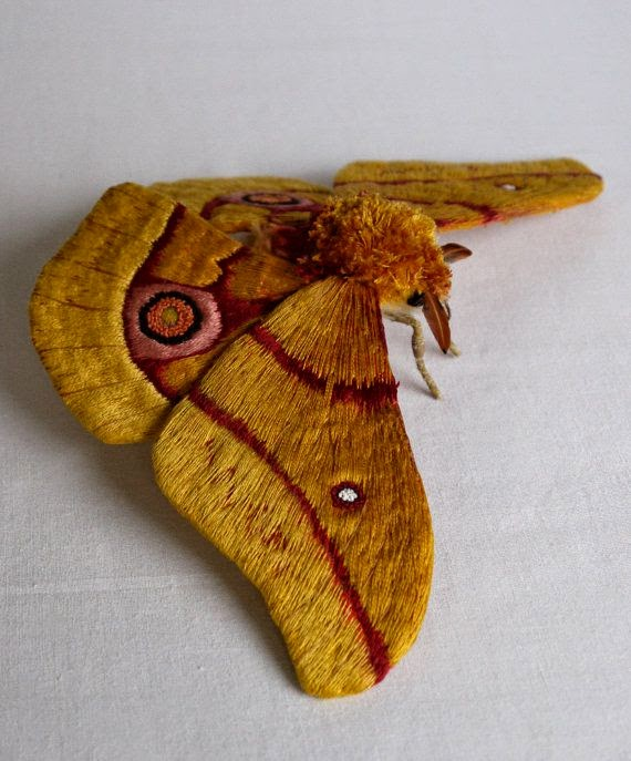 motyl haftowany 3D