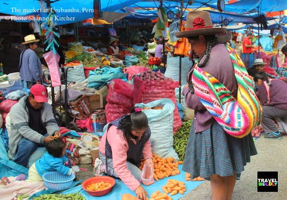 Quechua woman in the market Urubamba Peru. Photo: Shannon Kircher for TravelBoldly.com