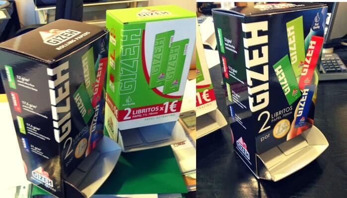 cajas expositoras para tienda