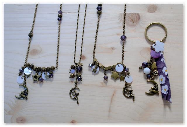 bijoux féeriques bronze vieilli et indigo