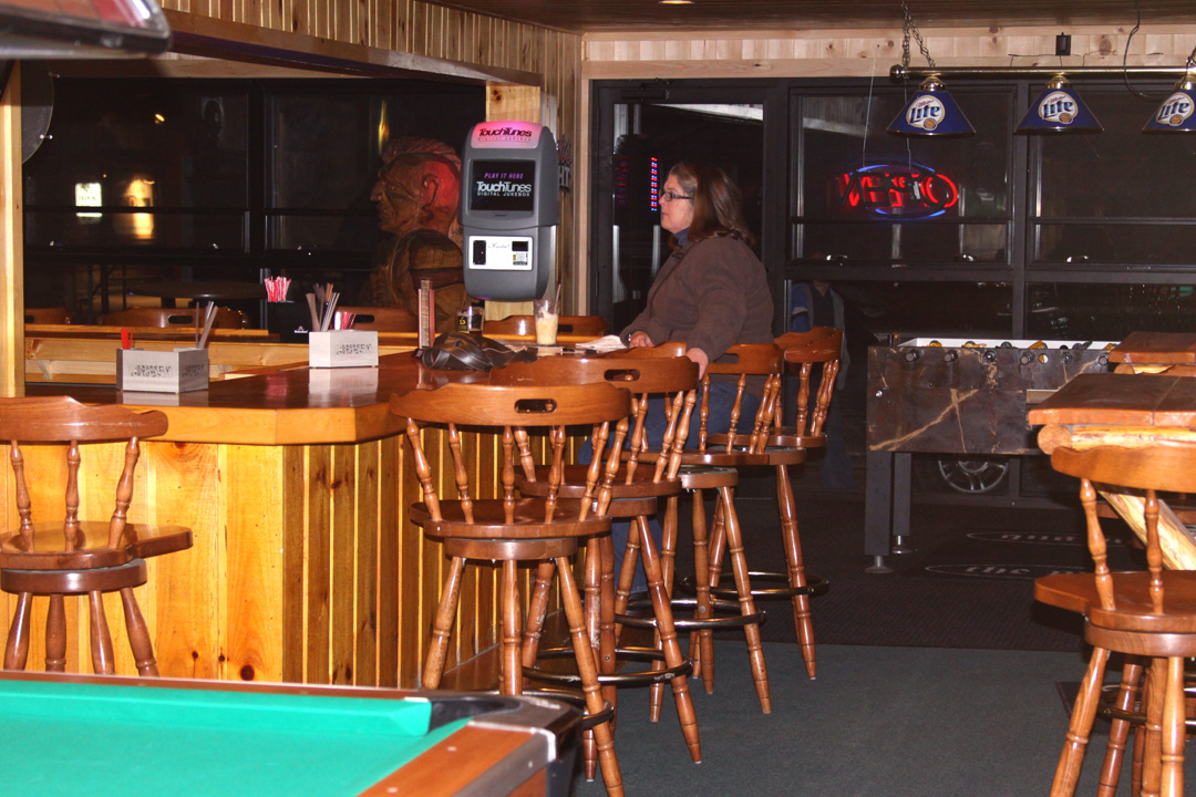 The P Shaped Bar Which Seats About 15 Is Parioned By A Wall And We Realized That Hadn T Selected Best For Full View Of Pub