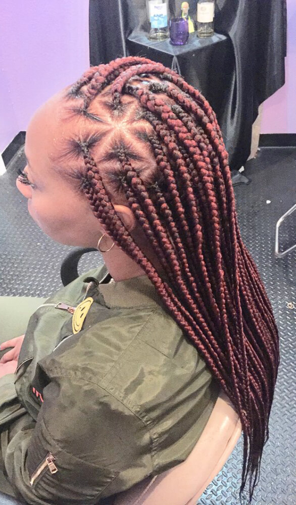 20 Latest Knotless Box Braids Styles Ponytails For African American Styleuki