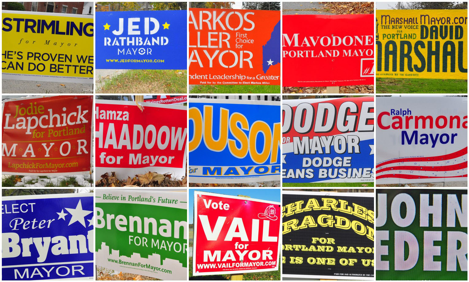 corey templeton photography mayoral election signs