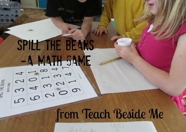 spill the beans- a math game printable