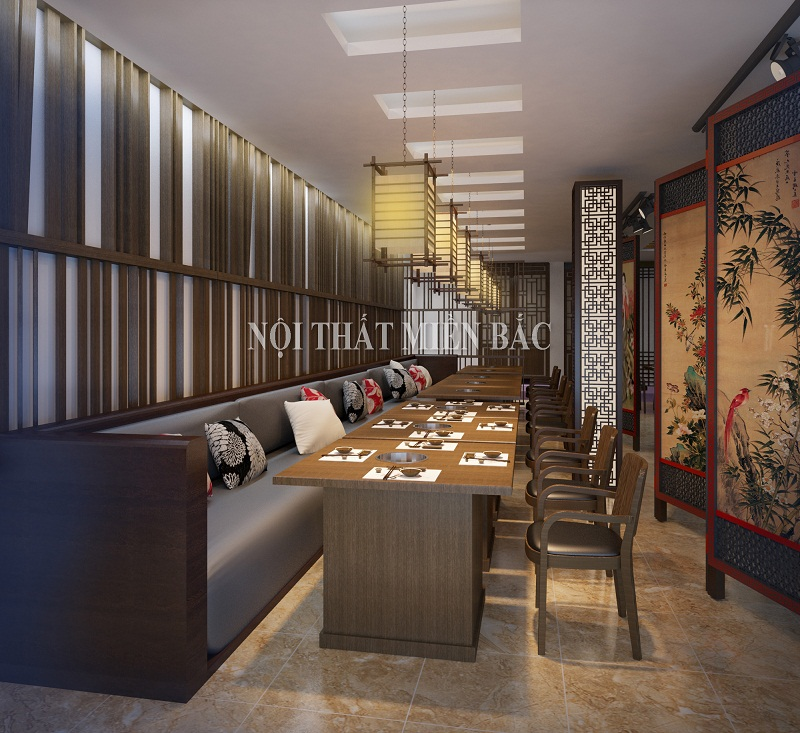 Thiết kế nhà hàng Hàn Quốc không gian sôi động