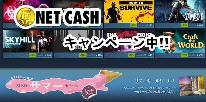 NetCash Steam キャンペーン