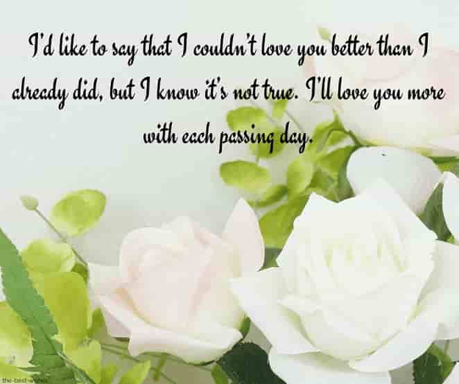 good morning baby text for her with white roses