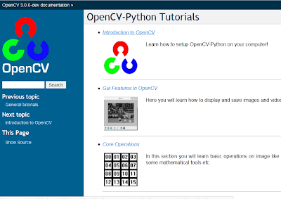 Here Comes Official OpenCV-Python Tutorials