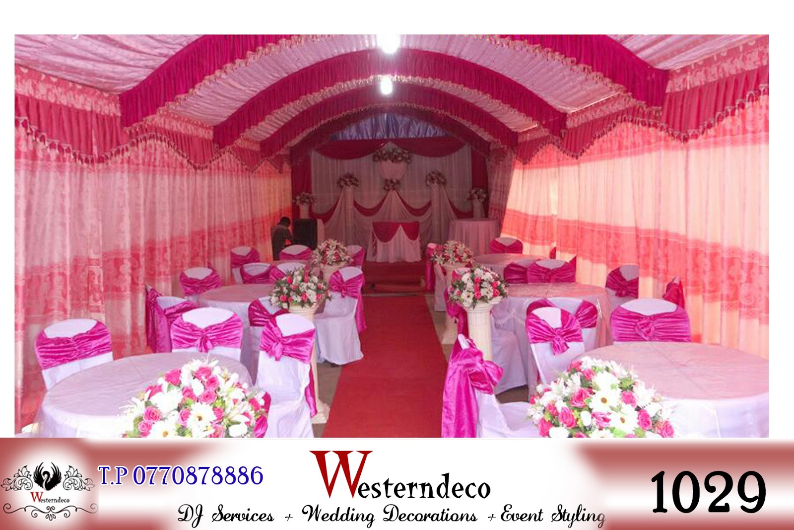 Our modern curtain stage decoration - Western Decoration